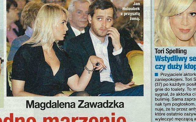 Jan Holoubek - syn Gustawa Holoubka z przyszłą żoną Magdą