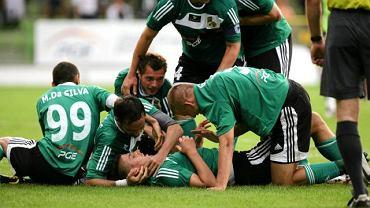 Radość piłkarzy Bełchatowa