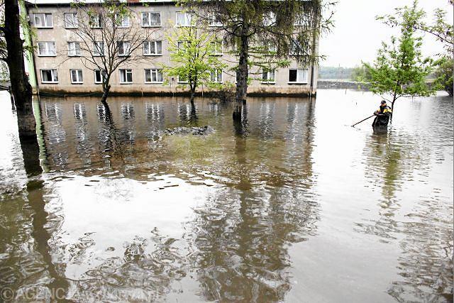 Bieruń podczas zeszłorocznej fali powodzi