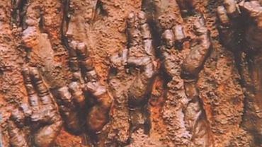 """Fragment obelisku autorstwa Maksymiliana Biskupskiego, którego projekt zaprezentowali """"obrońcy krzyża"""""""