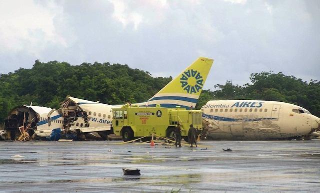 Rozbity samolot w Kolumbii