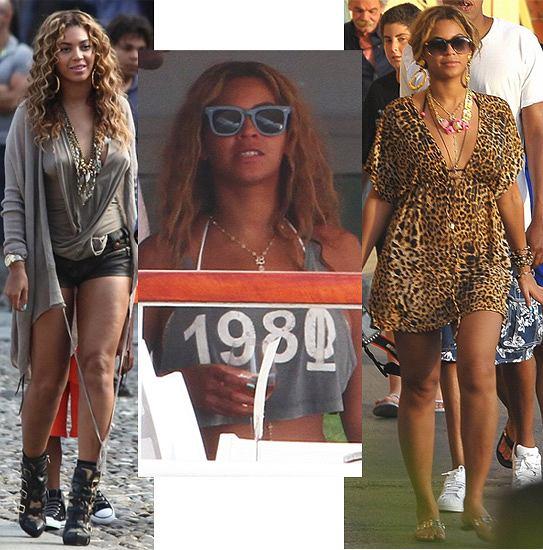 Beyonce eksperymentuje z modą na wakacjach
