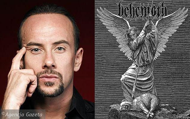 Adam Darski i najnowsza okładka płyty DVD zespołu Behemoth