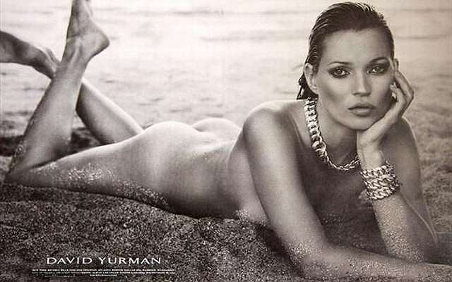 Kate Moss nago w kampanii reklamowej marki David Yurman.