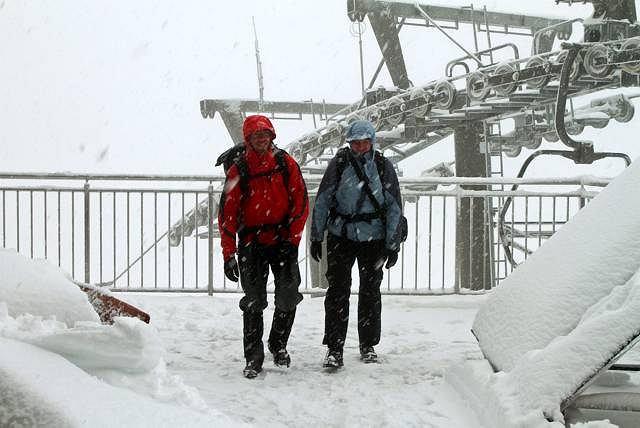 Pierwszy śnieg na Kasprowym, 31.08