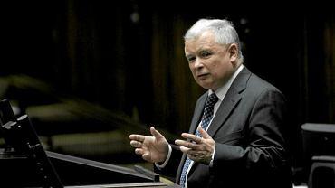 Prezes PiS Jarosław Kaczyński w tej kadencji Sejmu z mównicy przemawiał 47 razy.
