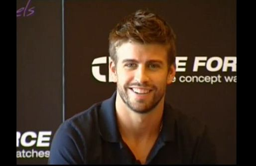 Gerard Pique w reklamie Time Force