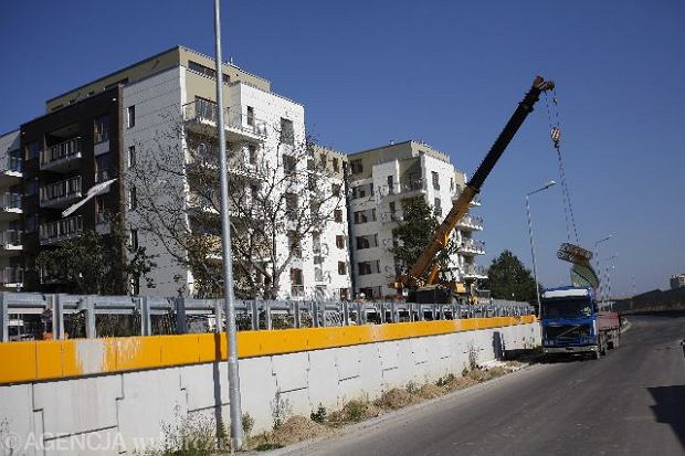 Trasa ekspresowa będzie przebiegać w pobliżu bloków, m.in  przy ulicy Lazurowej