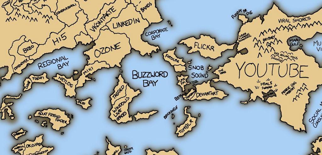 Mapa społeczności internetowych 2010