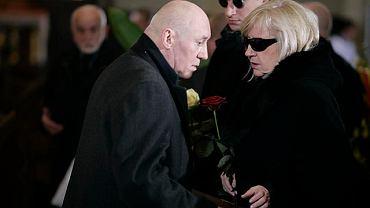 Czesław Telatycki i wdowa po zastrzelonym Marku Rosiaku - Halina Rosiak