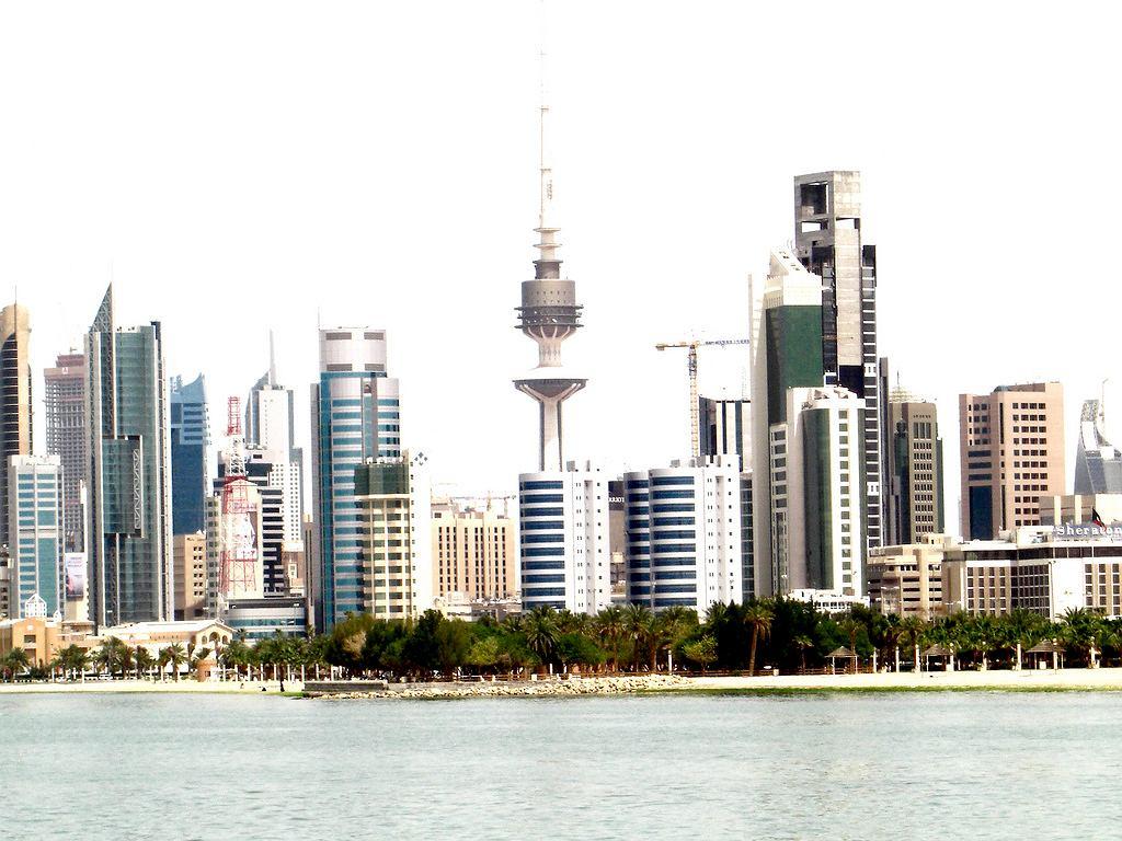 Panorama Kuwait City. Zdjęcie zrobione kompaktem Casio Exilim EX-Z1050.
