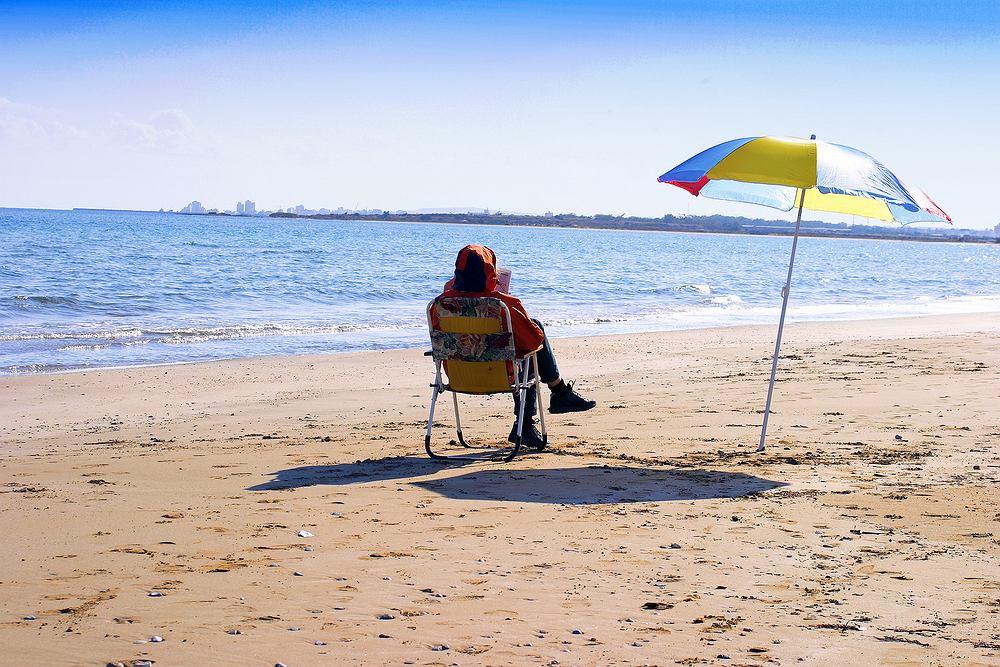 Plaża po sezonie