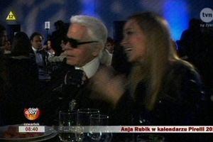 Joanna Przetakiewicz i Karl Lagerfeld