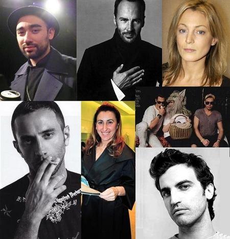 Mert Alas & Marcus Piggot, Phoebe Philo, Nicolas Ghesqiere, Miuccia Prada, Tom Ford, Nicola Formichetti, Riccardo Tisci
