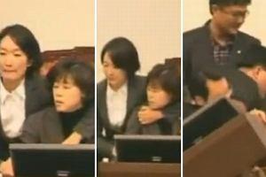 bijatyka w parlamencie Koreii