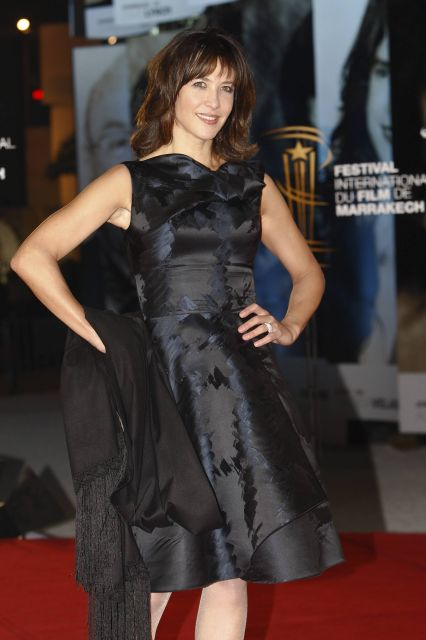 French movie star Sophie Marceau arrives for tribute to French Cinema at the Marrakech 10th International Film Festival in Marrakech, Morocco, Saturday Dec. 4, 2010. The festival runs through Dec. 3-11. (AP Photo/Abdeljalil Bounhar)