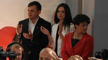 Marta Kaczyńska z mężem Marcinem Dubienieckim i szefową sztabu Jarosława Kaczyńskiego Joanną Kluzik-Rostkowską