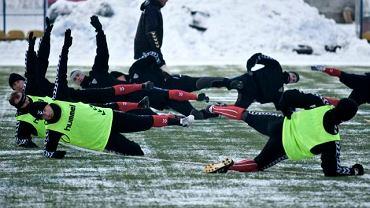 Pierwszy trening piłkarzy Polonii Bytom