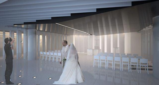 Projekt kaplicy wielowyznaniowej na Stadionie Narodowym.