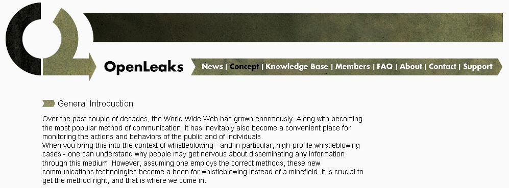OpenLeaks już w sieci