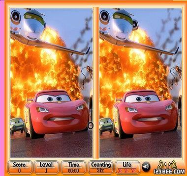 Auta 2 - znajdź różnice