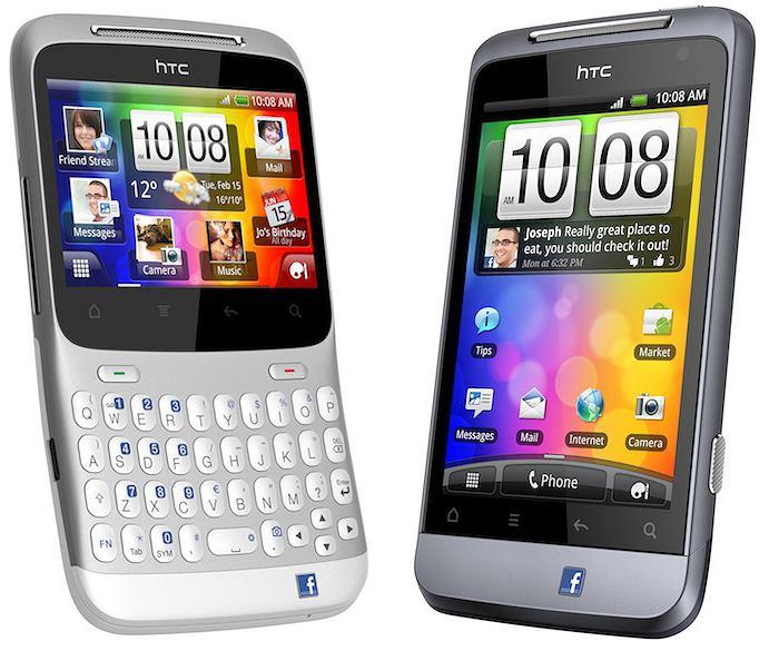 HTC ChaCha (L) i Salsa