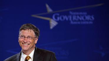 Bill Gates podczas spotkania z amerykańskimi gubernatorami w Waszyngtonie. 28 lutego 2011 r.