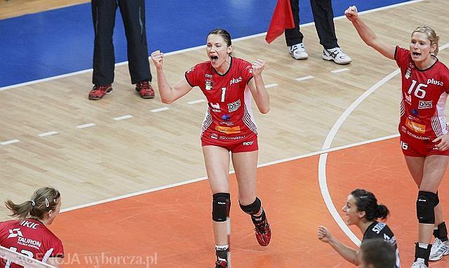 Agata Karczmarzewska-Pura w meczu MKS Dąbrowa Górnicza - Dinamo Krasnodar