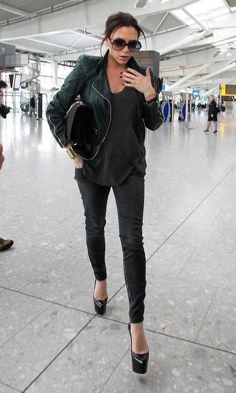 Victoria Beckham w skórzanej kurtce Marca Jacobsa