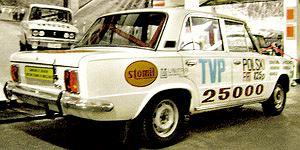 PRL,samochód, fiat 125p, kanciak