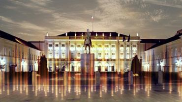 Wizualizacje Pomnika Światła - niemożliwe do uzyskania bez mgły lub dymu