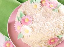 Biały tort z kremem cytrynowym - ugotuj