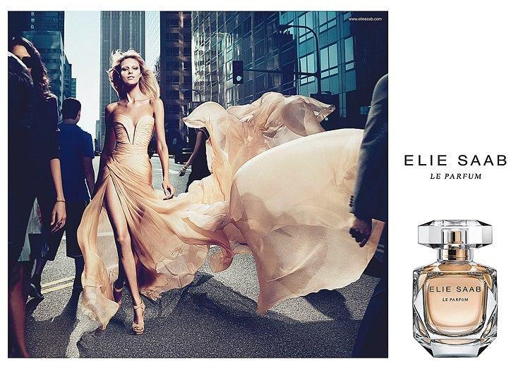 Anja Rubik w reklamie perfum Elie Saab