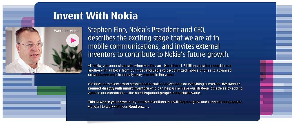 Nokia może ci zapłacić za twoje pomysły