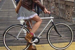Rowerzystka.