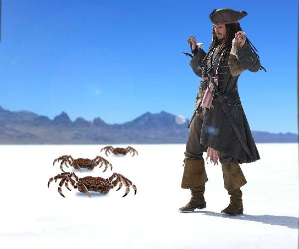 Uratuj Jacka Sparrowa przed rakami
