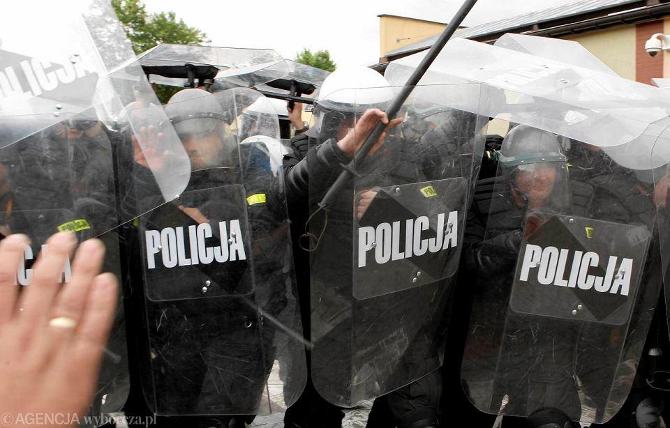Ćwiczenia w Śląskiej Szkole Policji w Katowicach