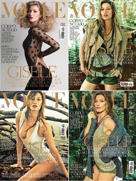 Gisele Bundchen na okładce Vogue Brazil lipiec 2011