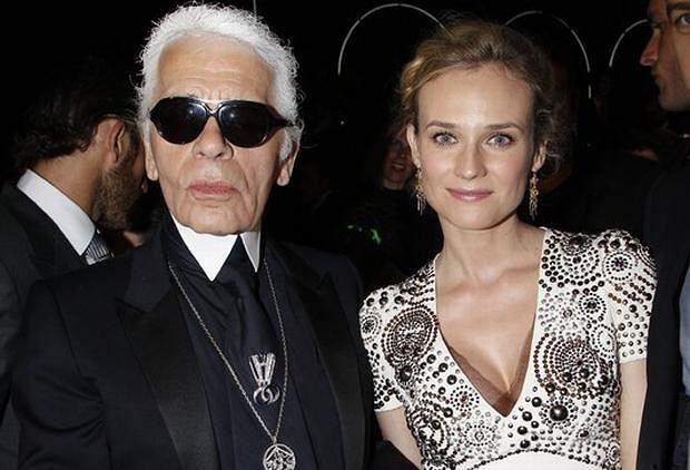 Karl Lagerfeld i Diane Kruger