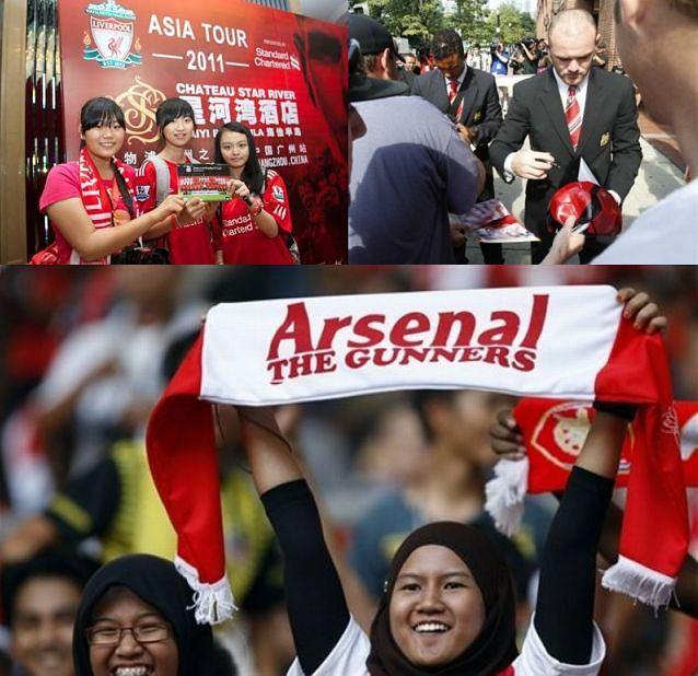 Drużyny Premier League w rozjazdach po świecie: Liverpool w Chinach, Manchester w USA a Arsenal w Malezji