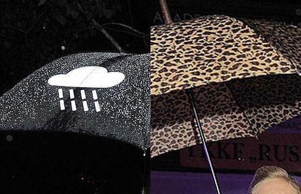 Impreza MTV. Lało, więc gwiazdy przyszły z parasolami. Niektóre były naprawdę ciekawe. Pokazujemy te najfajniejsze.
