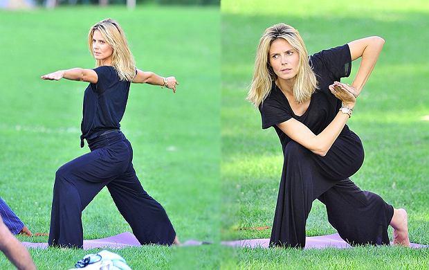 Heidi Klum ćwiczy jogę