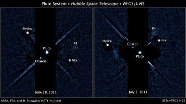 Pluton, jeszcze z czterema księżycami