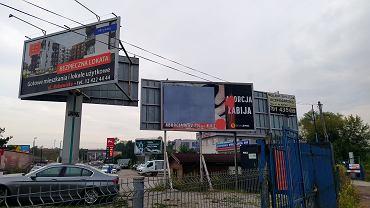 Zasłonięty billboard antyaborcyjny w Krakowie