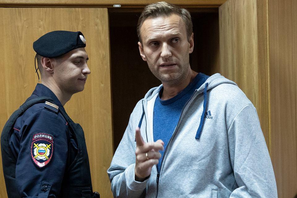 Aleksiej Nawalny w moskiewskim sądzie, 27 sierpnia 2018 r.