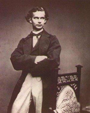 Król Ludwik II Bawarski w młodości/ Fot. Domena Publiczna/ GHP2/ Wikimedia Commons