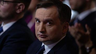 Prokurator generalny i minister sprawiedliwości w rządzie PiS Zbigniew Ziobro podczas konwencji swojej partii 'Solidarna Polska'. Warszawa, 8 lutego 2020