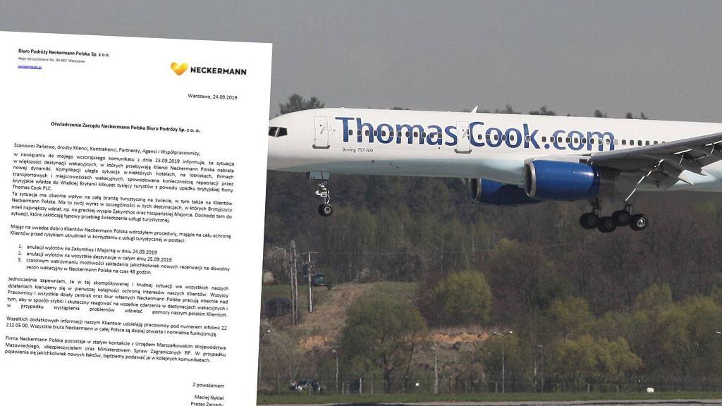 Neckermann odwołuje niektóre loty, ale uspokaja