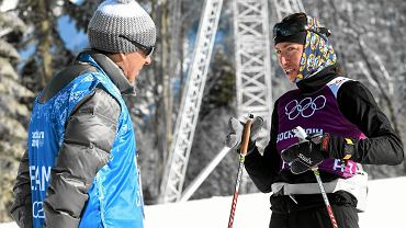 Justyna Kowalczyk podczas treningu na trasach olimpijskich przed igrzyskami