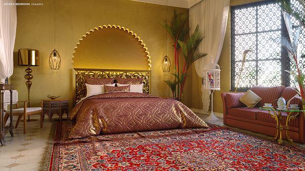 Sypialnia Dżafara inspirowana filmem animowanym Aladyn